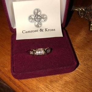 Camrose & Kross 24k gold plated ring size 6